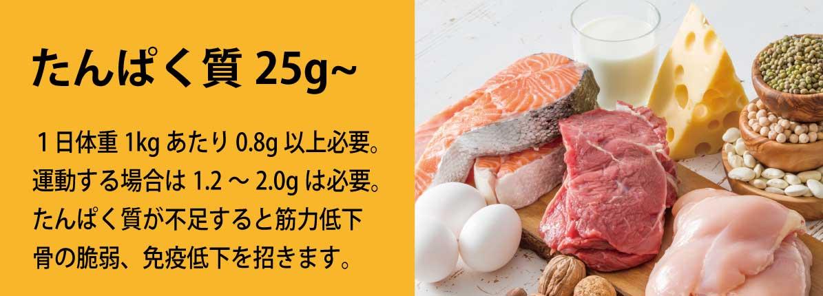 たんぱく質25g